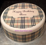 Burberry Edible Icing Cake Topper
