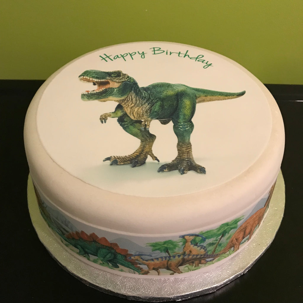 Dinosaurs Edible Icing Cake Topper 02