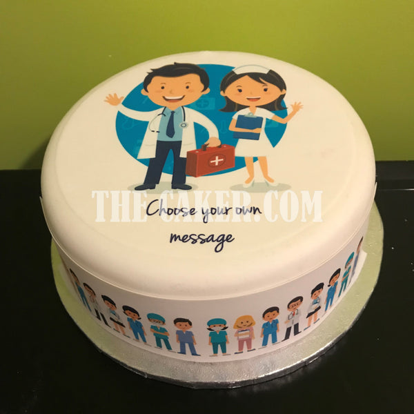 Medical Staff Edible Icing Cake Topper 02