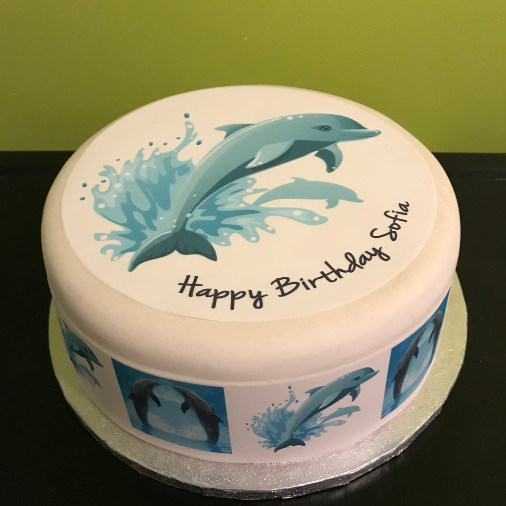 Dolphin Edible Icing Cake Topper 03 – the caker online