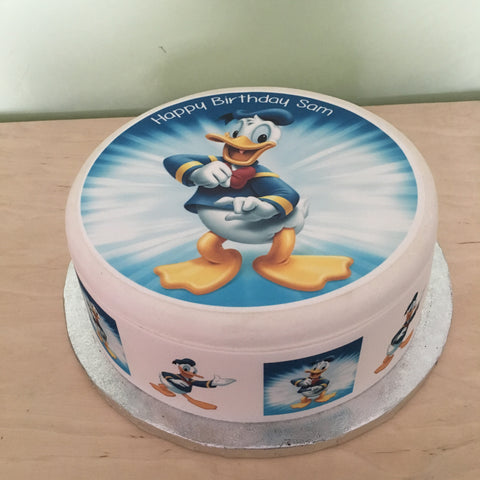Donald Duck Edible Icing Cake Topper