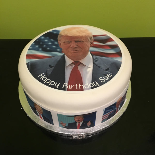 Donald Trump Edible Icing Cake Topper 03