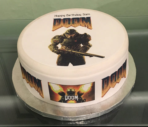 Doom Edible Icing Cake Topper 01