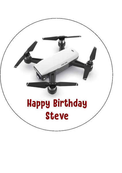 Drone Edible Icing Cake Topper 01