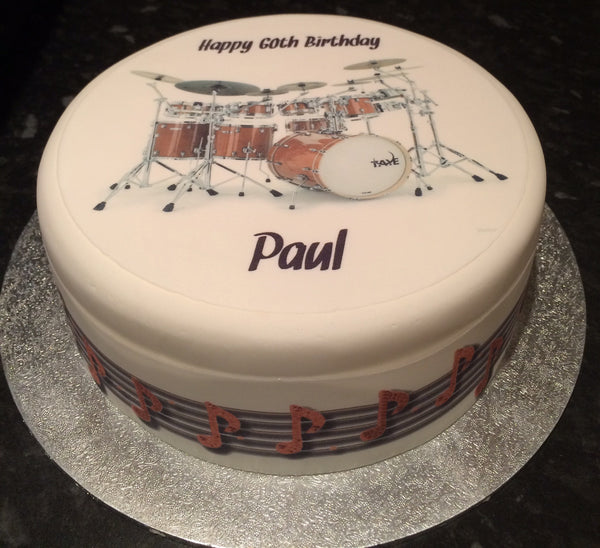 Drum Kit Drums Edible Icing Cake Topper