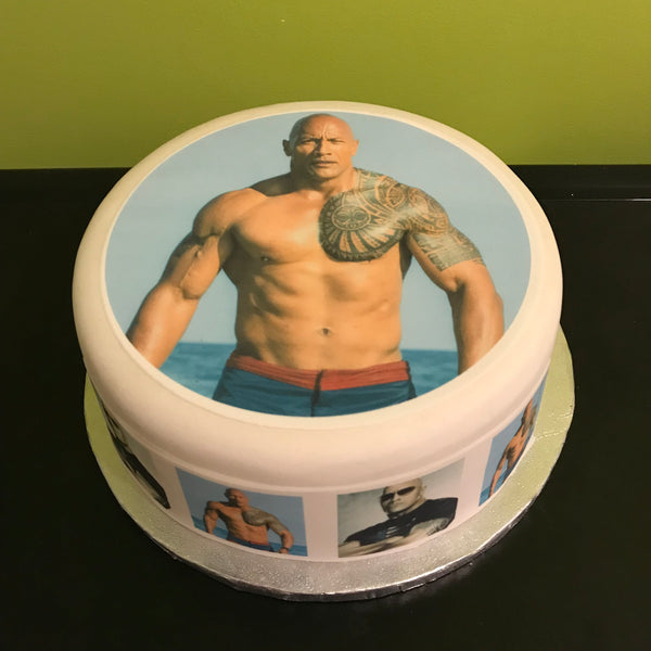 Dwayne Johnson Edible Icing Cake Topper 02