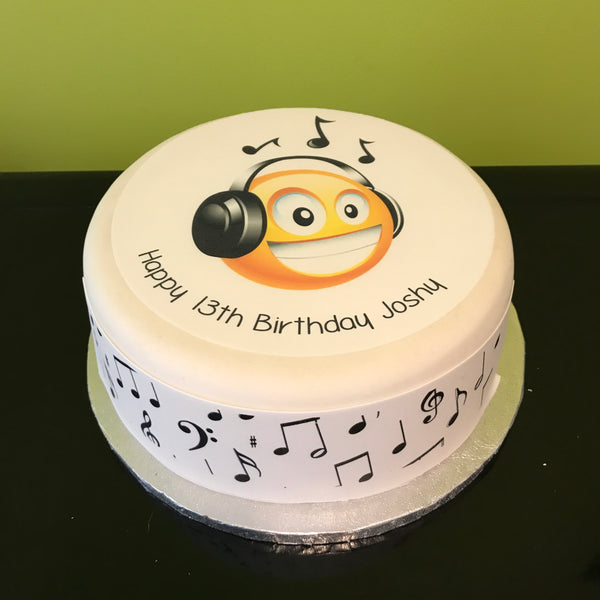 Music Headphones Edible Icing Cake Topper 02