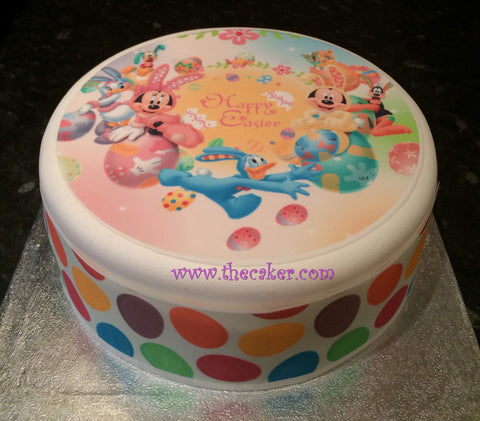 Easter Edible Icing Cake Topper 04