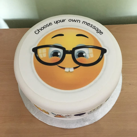 Emoji Emoticon Glasses Edible Icing Cake Topper 18