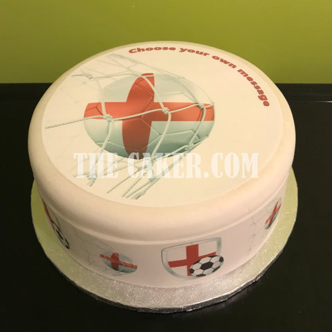 England FC Edible Icing Cake Topper 02