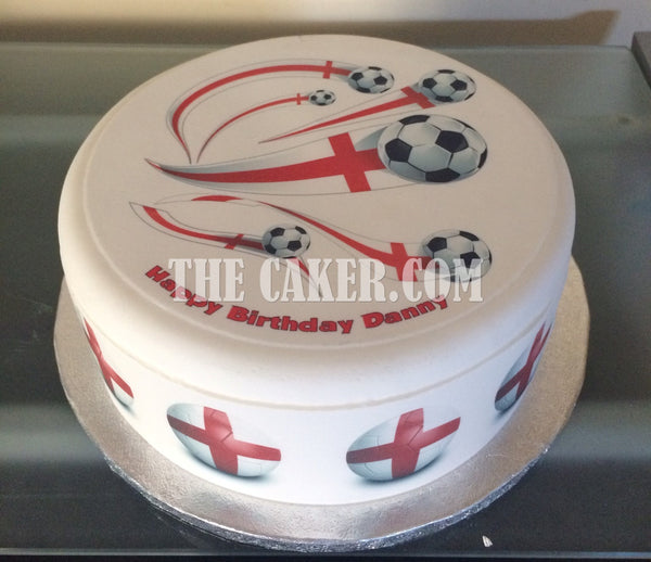 England FC Edible Icing Cake Topper 03