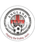England FC Edible Icing Cake Topper 07