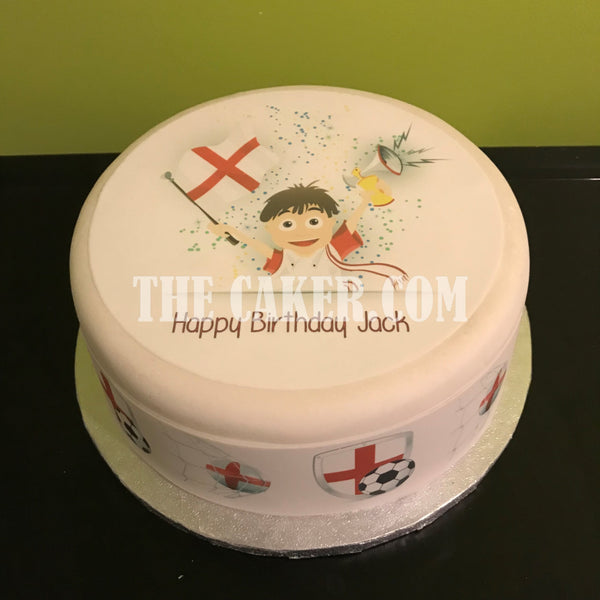 England FC Edible Icing Cake Topper 08