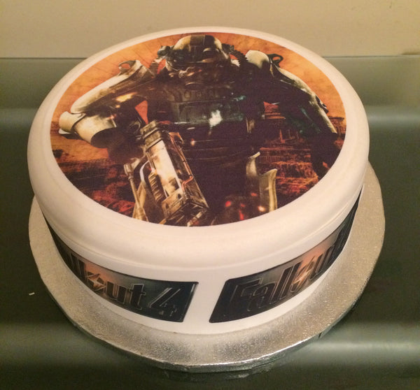 Fallout 4 Edible Icing Cake Topper 01