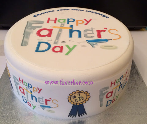 Father's Day Edible Icing Cake Topper 02