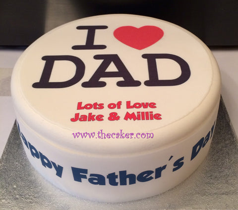 Father's Day Edible Icing Cake Topper 05
