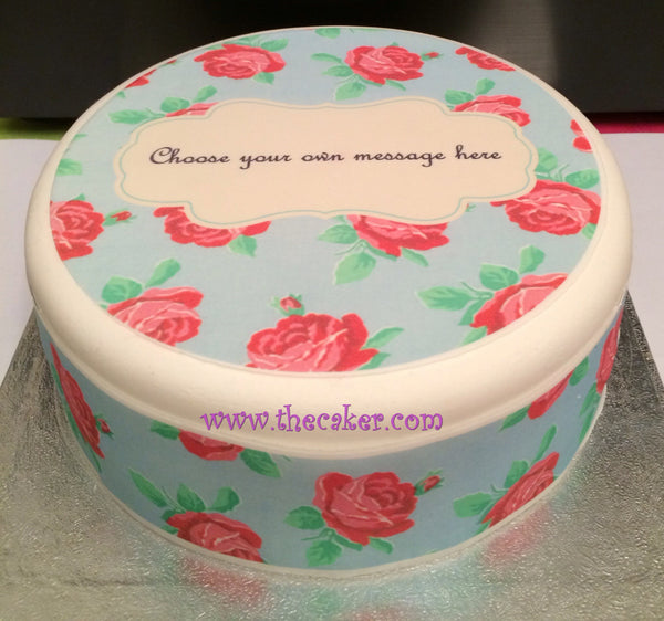 Flower Pattern Edible Icing Cake Topper 01