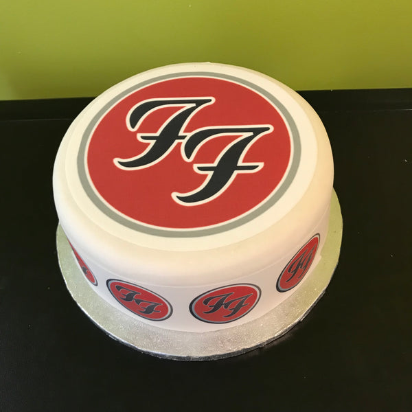 Foo Fighters Logo Edible Icing Cake Topper