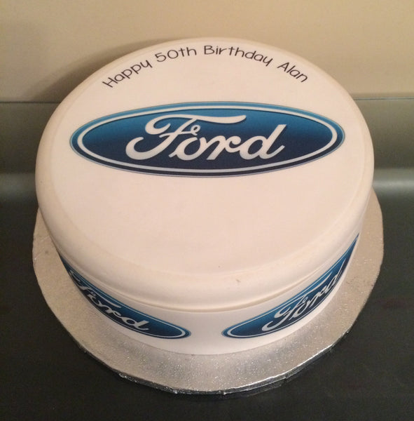 Ford Logo Edible Icing Cake Topper