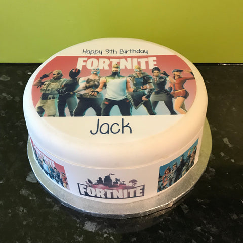 Fortnite Edible Icing Cake Topper or Ribbon 01
