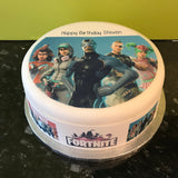 Fortnite Edible Icing Cake Topper or Ribbon 02