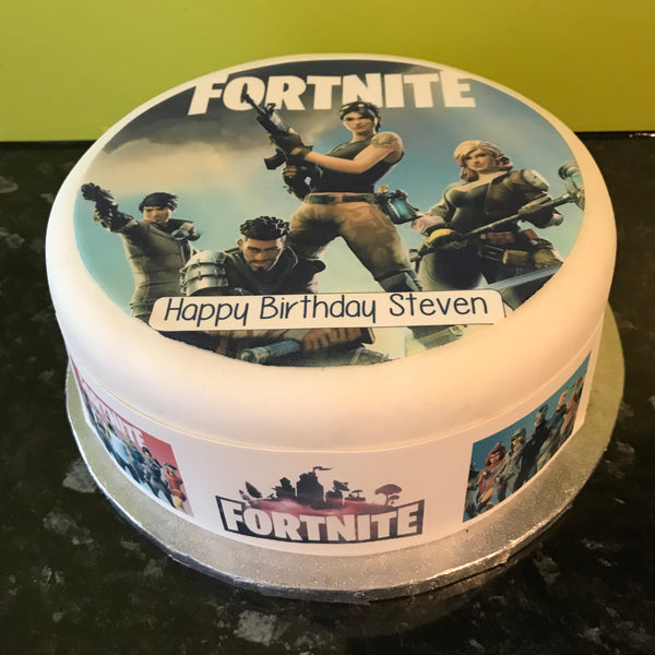 Fortnite Edible Icing Cake Topper or Ribbon 03