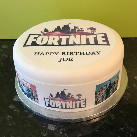 Fortnite Logo Edible Icing Cake Topper or Ribbon