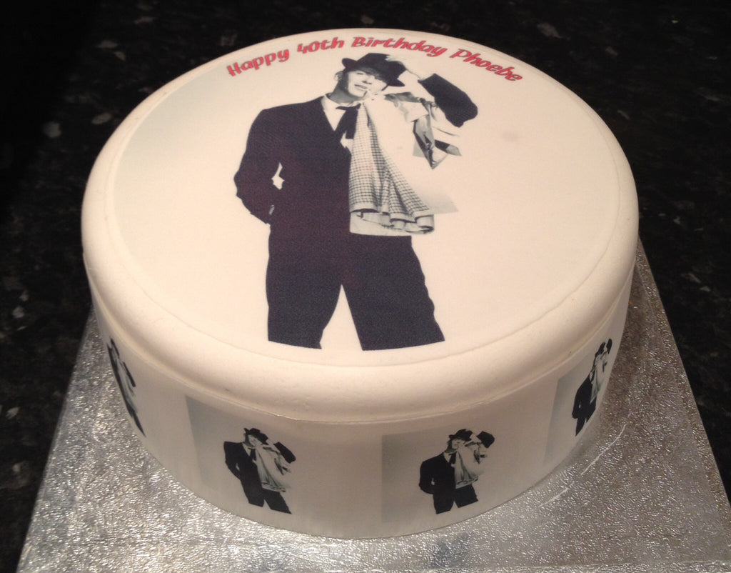 Frank Sinatra Edible Icing Cake Topper The Caker Online