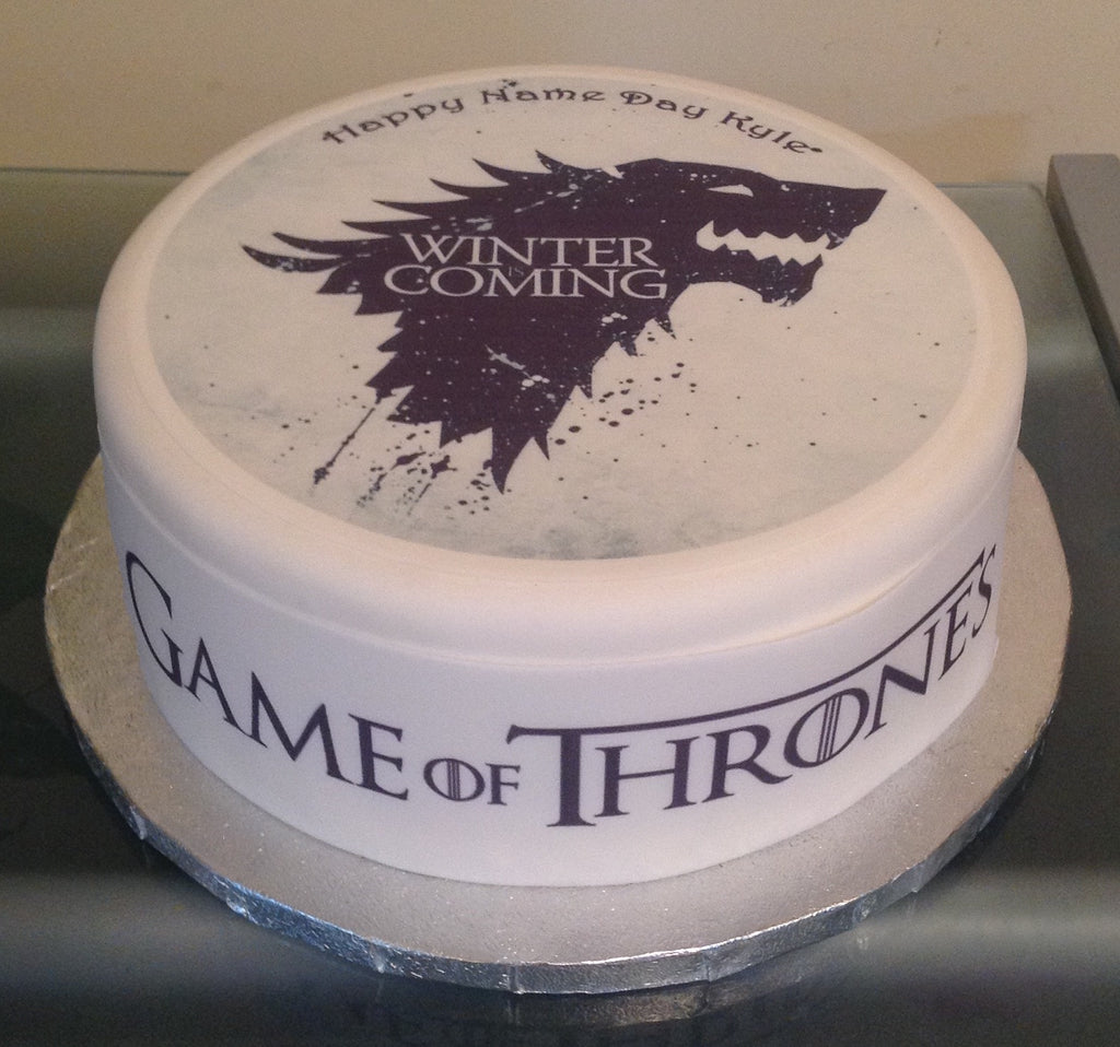 Game Of Thrones Edible Icing Cake Topper 01 The Caker Online
