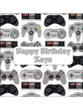 Video Games Addict Edible Icing Cake Topper 01