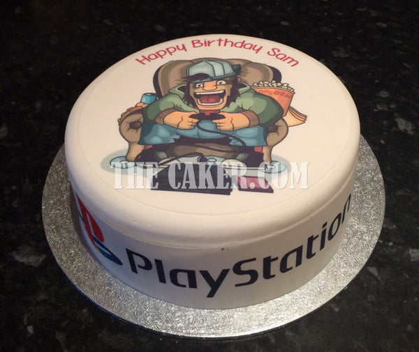 Gamer Edible Icing Cake Topper 01