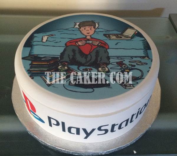 Video Games Player Edible Icing Cake Topper 04
