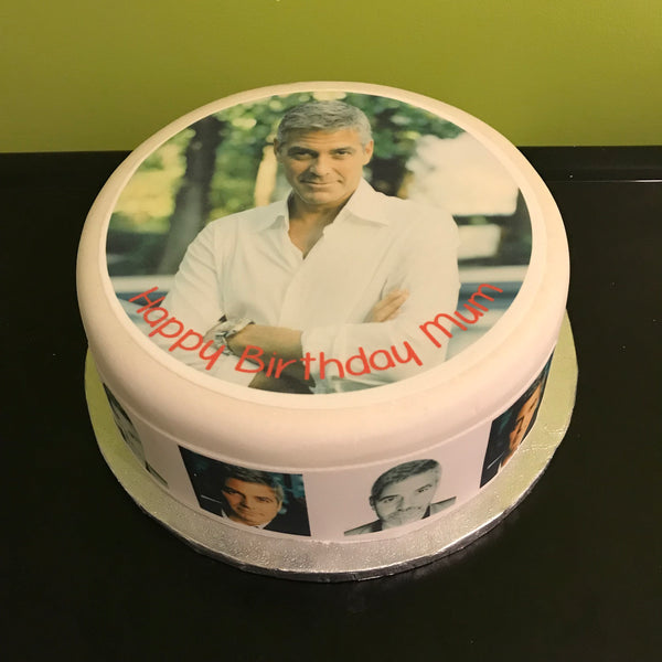 George Clooney Edible Icing Cake Topper 03