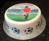 George Best Edible Icing Cake Topper