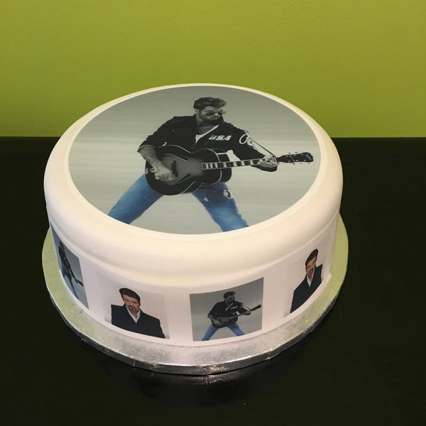 George Michael Edible Icing Cake Topper 01