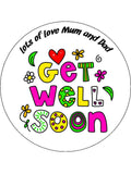 Get Well 01 Edible Icing Cake Topper