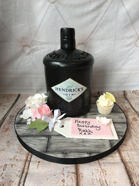 Gin Label Edible Icing Topper 04 - Hendrick's