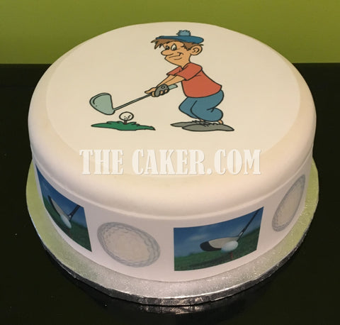 Golf Edible Icing Cake Topper 01