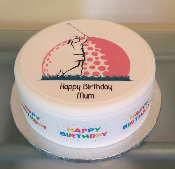 Golf Lady Edible Icing Cake Topper 04