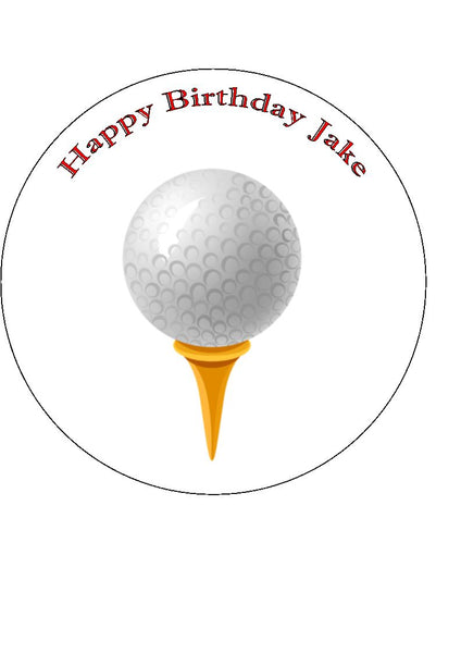 Golf Edible Icing Cake Topper 07