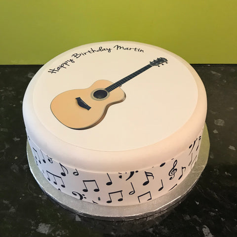 Classic Guitar Edible Icing Cake Topper