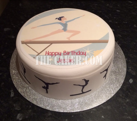 Gymnastics Edible Icing Cake Topper 03