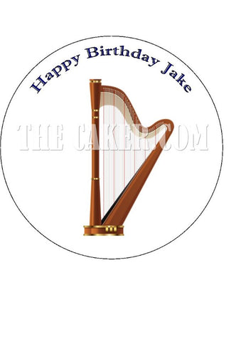 Harp Edible Icing Cake Topper