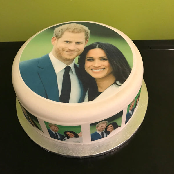 Prince Harry & Meghan Edible Icing Cake Topper 01