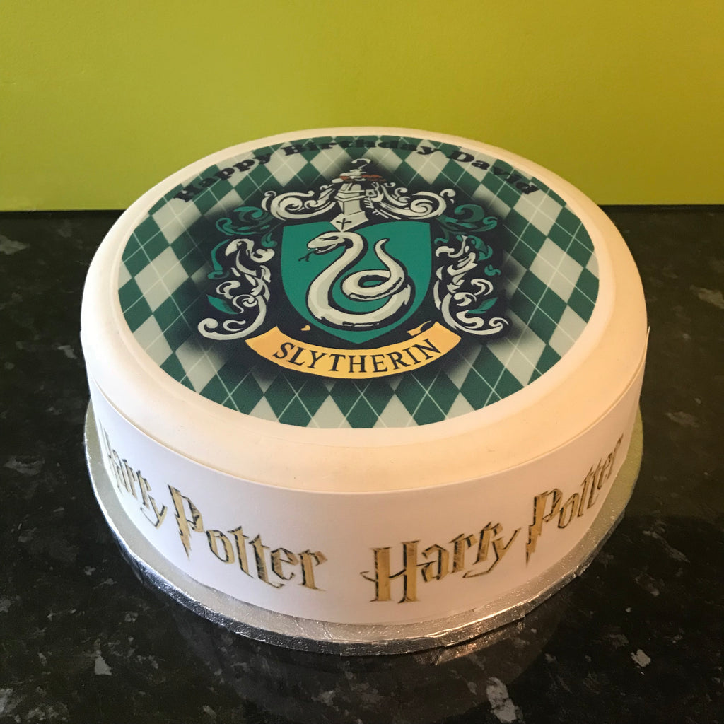 Harry Potter Edible Icing Cake Topper 08 Slytherin The Caker Online