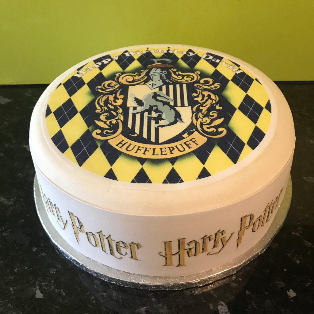 Harry Potter Edible Icing Cake Topper 09 Hufflepuff – the ...