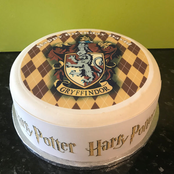 Harry Potter Edible Icing Cake Topper 10 Gryffindor