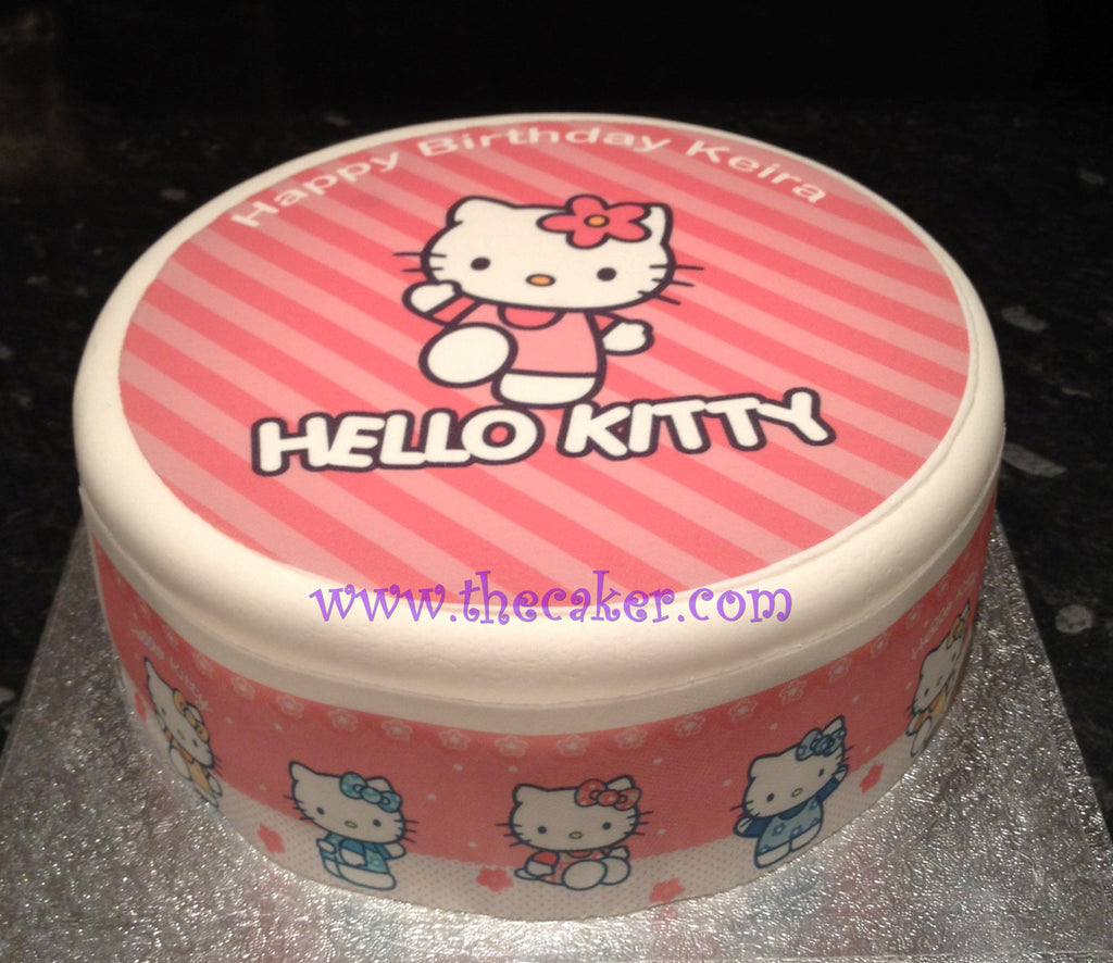Hello Kitty Edible Icing Cake Topper 01 The Caker Online