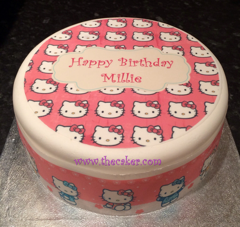 Hello Kitty Edible Icing Cake Topper 02 The Caker Online