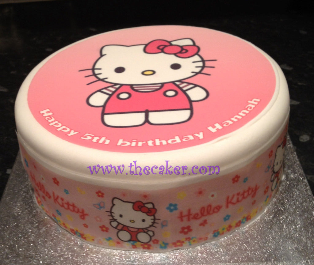 Hello Kitty Edible Icing Cake Topper 03 The Caker Online